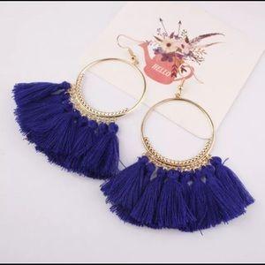 Jewelry - 🚨 5/$20 Sapphire fringe tassel earrings
